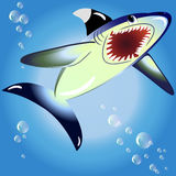 EPS10 vector illustration. shark Stock Image