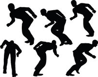 EPS 10 Vector illustration in silhouette of businessman run with lean Royalty Free Stock Photos