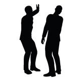 EPS 10 Vector illustration in silhouette of businessman slap Stock Photos