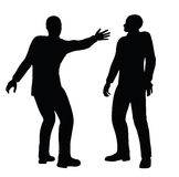 EPS 10 Vector illustration in silhouette of businessman slap Stock Image