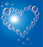 EPS10 vector illustration. Soap bubbles In the Royalty Free Stock Image