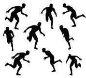EPS 10 vector illustration of soccer player silhouette in black. Illustration -  EPS 10 vector illustration of soccer player silhouette in black Stock Photo