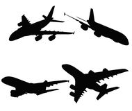 EPS 10 vector illustration of   A380 on white background Royalty Free Stock Image