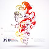 EPS 10 vector ink abstract background Stock Photography
