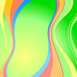 Eps10 vector multicolor wave Stock Photography