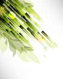 Rectangular pattern foliage elements background Stock Photography