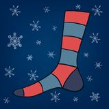 Eps 10 vector sock illustration Stock Image