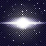 EPS10 Vector transparant de gloed lichteffect van de zonlicht speciaal lens royalty-vrije illustratie