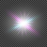Vector transparent sunlight special lens flare light effect. Eps10. Vector transparent sunlight special lens flare light effect Royalty Free Stock Images