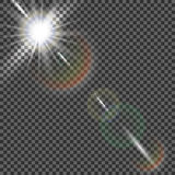 Eps10.Vector transparent sunlight special lens flare light effect. Vector transparent sunlight special lens flare light effect Stock Image