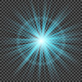 Eps10.Vector transparent sunlight special lens flare light effect. Stock Images