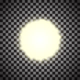 Eps10.Vector transparent sunlight special lens flare light effect. Royalty Free Stock Images