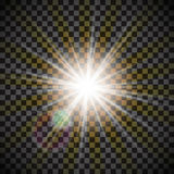 Eps10.Vector transparent sunlight special lens flare light effect. Stock Image