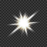 Eps10.Vector transparent sunlight special lens flare light effect. Royalty Free Stock Photography