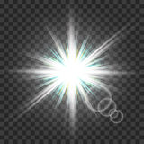 Eps10.Vector transparent sunlight special lens flare light effect. Royalty Free Stock Photos