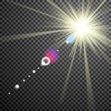 Eps10.Vector transparent sunlight special lens flare light effect. Stock Images