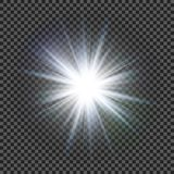 Vector transparent sunlight special lens flare light effect. Eps10. Vector transparent sunlight special lens flare light effect Royalty Free Stock Images