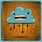 EPS10 vector vintage grunge old card. Monster Royalty Free Stock Photos