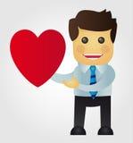 Uomo d'affari nell'amore Immagini Stock Libere da Diritti