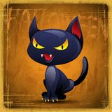 EPS10 vintage grunge old card. Halloween cat Royalty Free Stock Photography