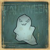 EPS10 vintage grunge old card. Halloween ghost Royalty Free Stock Photography