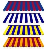 Kolorowy set pasiaste markizy Zdjęcia Royalty Free