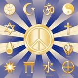+EPS Weltfrieden, viele Glauben Stockbild