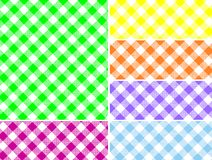 Woven Gingham Vector Swatches in Six Colors. Eps8. Woven gingham swatches in six colors that can be easily changed stock illustration