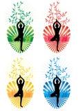 eps zdrowie miłości drzewa joga ilustracja wektor