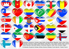 eps10 κόσμος σημαιών Στοκ Φωτογραφίες