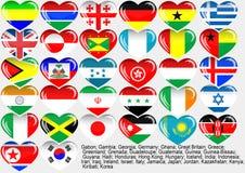 eps10 κόσμος σημαιών Στοκ εικόνες με δικαίωμα ελεύθερης χρήσης