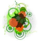 абстрактное знамя цветастое eps10 Стоковое Изображение RF