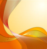 абстрактные волны померанца eps10 Стоковые Фотографии RF