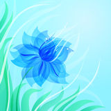 EPS10 azure flower background Royalty Free Stock Image