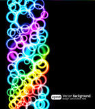 Eps10 bright light effects blue background. Vertical illustration. Rainbow color Royalty Free Stock Photo