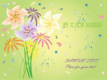 Eps10 fantasy flowers Royalty Free Stock Image
