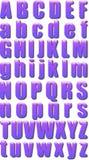 Eps10 glossy alphabet Stock Image