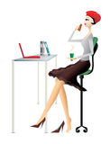 EPS10,  illustration of business women Royalty Free Stock Photography