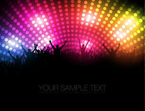 EPS10 Party People Vector Background - Dancing Young People Royalty Free Stock Image