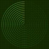 EPS10 Radarschirm Lizenzfreies Stockfoto