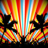 EPS10 Retro Party People Vector Background Royalty Free Stock Photo
