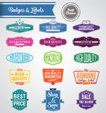 Eps10 set of vector labels and stickers Royalty Free Stock Image