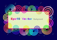 Eps10 vector card. Royalty Free Stock Photo