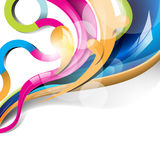 Eps10 vector colorful glossy waves background Royalty Free Stock Image