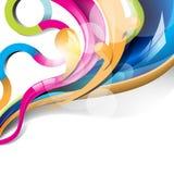 Eps10 vector kleurrijke glanzende golvenachtergrond Royalty-vrije Stock Afbeelding