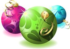 Eps8 3d christmas ball Stock Images