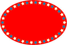 EPS8 Vector Red White Blue Oval Star Background. EPS8 Vector Oval red, white and blue background with copy space Royalty Free Stock Photo