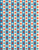 EPS8 Vector Red White and Blue Star Background Stock Photo