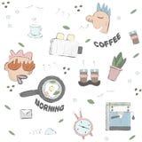 Enjoy the morning Dude vector illustration