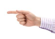 άτομο δάχτυλων που δείχν&epsi Στοκ εικόνα με δικαίωμα ελεύθερης χρήσης